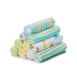 Spasilk 10 pack Soft Terry bamboo baby washcloths