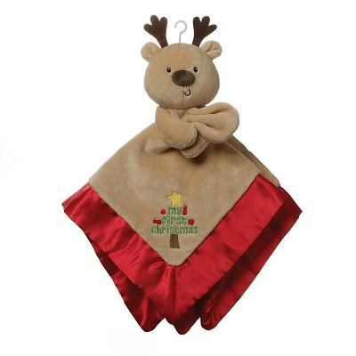 GUND Baby My First Christmas Reindeer Lovey Plush Blanket